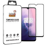 Full Coverage Tempered Glass Screen Protector for OnePlus 7 - Black